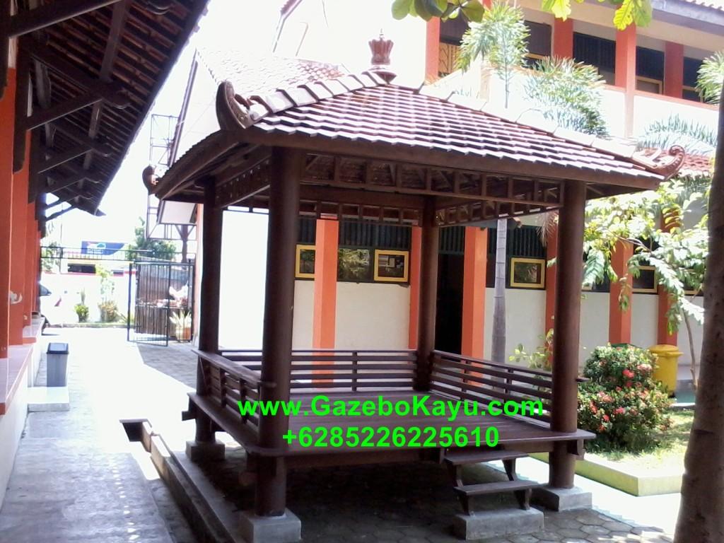 Gazebo Minimalis Bali Kayu Kelapa