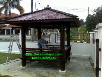 Gazebo Minimalis Kayu Kelapa GM-06