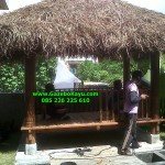 Gazebo Bali Bale Bengong Segi Enam 6 Kayu Kelapa GB-05
