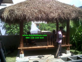 Harga Bale Bengong Murah Gazebo Bali Kayu Kelapa GB-06