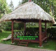 Gazebo Jepara Glugu Atap Alang-alang murah GJ-07
