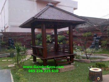 Gazebo Jepara Taman Belakang Rumah GJ-12