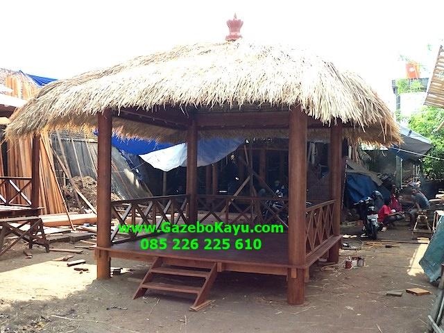 Gazebo Minimalis Atap Alang-alang Bali GM-12
