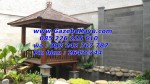 Gazebo Murah Jakarta Kayu Kelapa Gazebo Taman GKM-02