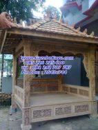 Gazebo Murah Kayu Jati Ukiran GKM-03