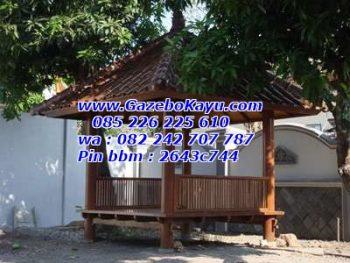 Gazebo Murah Minimalis Atap Sirap Kayu GKM-05