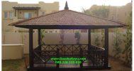 Gazebo Jepara Taman Rumah Kayu Kelapa GJ-08 Murah