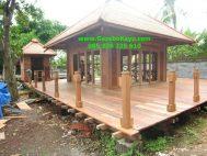 Jual Rumah Kayu Serpong Knockdown Minimalis RK-09 Gazebo Kayu