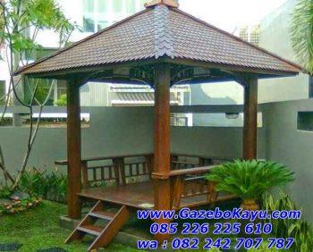 Gazebo Taman Belakang Rumah Minimalis Jakarta GT-06