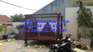Jual Gazebo 2 x 3 meter kayu kelapa pemasangan di rumah bapak bambang Tangerang