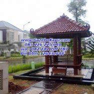 Gazebo Murah Minimalis Kayu Kelapa GKM-01